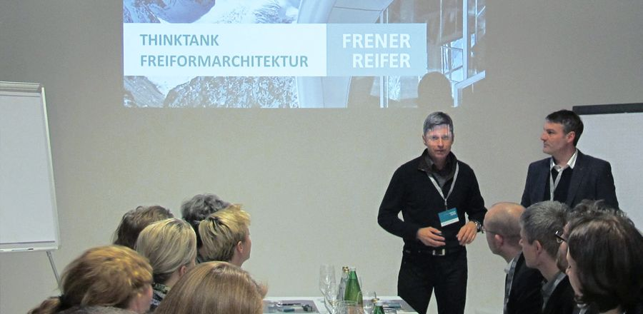 Freeformarchitecture evening event  with FRENER & REIFER –  with Renzo Piano Building Workshop & J Mayer H. In Munich