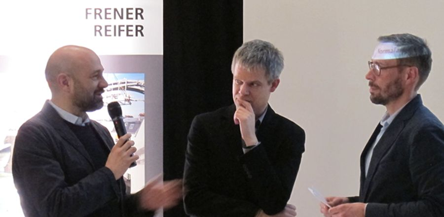 Freeformarchitecture evening event  with FRENER & REIFER –  Presentation Vortrag J. Mayer H.
