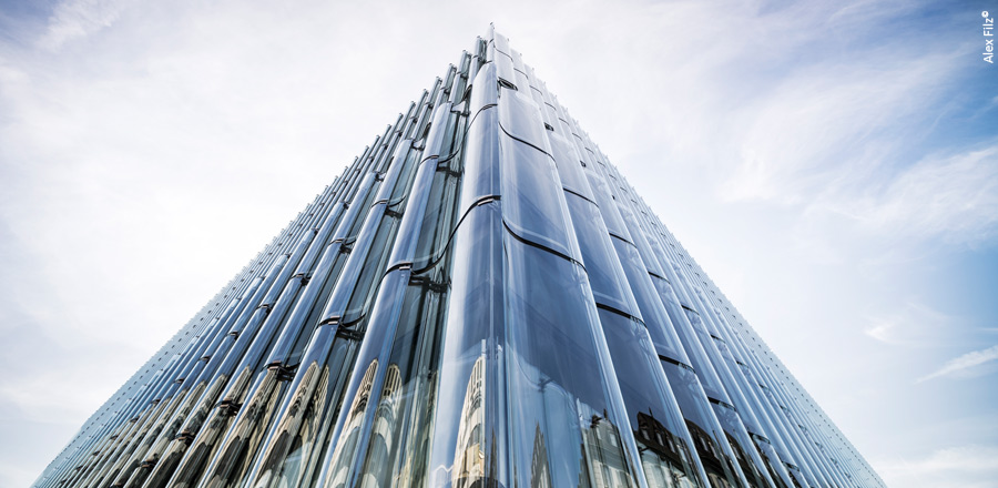 FRENER & REIFER undulating glass facade