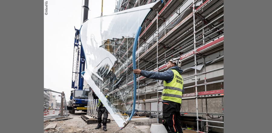 FRENER & REIFER installation of 924 undulating glass units