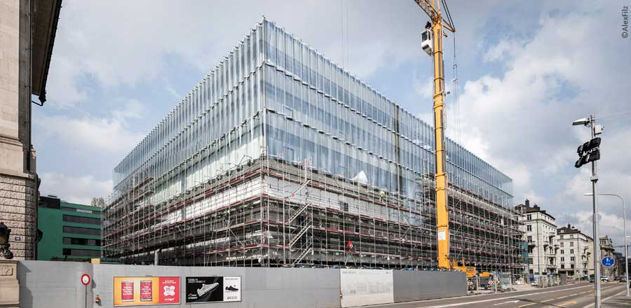 FRENER & REIFER installs the facade of Swiss Re Next